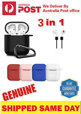 AU6.97 • Buy For Apple Airpod Silicone Case Cover Skin AU Strap Holder & Shockproof Airpods