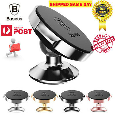 AU14.95 • Buy BASEUS 360 Degree Rotating Cell Phone Holder Car Magnetic Mount Stand Universal
