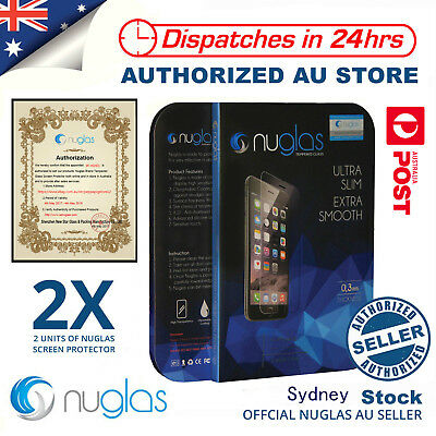 AU6.95 • Buy 2x NUGLAS Tempered Glass Screen Protector For Apple IPhone11 Pro  X 8 7 5 6 6s