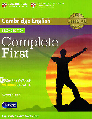 £26.44 • Buy Cambridge COMPLETE FIRST FCE Student's Book B2 Without Answers With Audio CD NEW