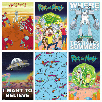 £9.90 • Buy RICK & MORTY Posters - Glossy HQ Get 4 For The Price Of 2 - Bedroom Wall Decor