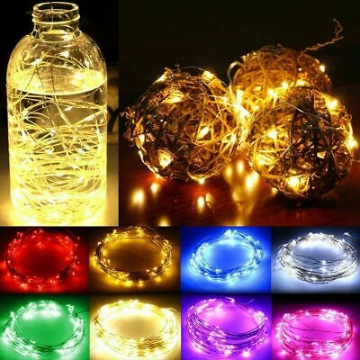 10/20/30/50/100 LEDs Fairy String Lights Copper Wire Battery Powered Xmas Decor • 2.42£