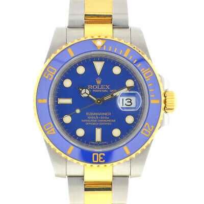 $ CDN18879.24 • Buy Rolex 116613 Submariner Blue Two Tone Ceramic Bezel Automatic Watch