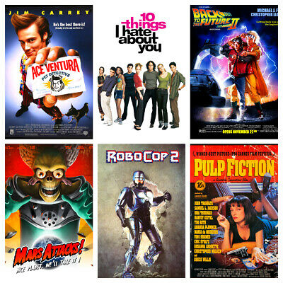 90s Movie Posters - Classic Vintage Wall Art - Party Bar Shop Cafe Cinema Decor • 4.99£