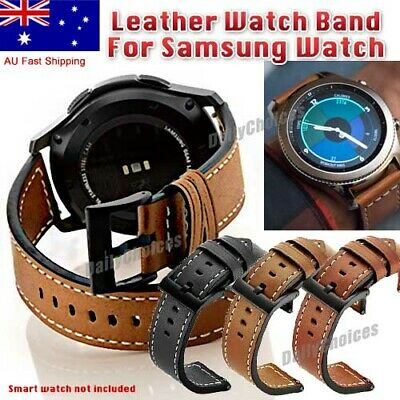 AU15.39 • Buy AU Leather Watch Band Strap For Samsung Galaxy Watch 46mm S3 Frontier Sport