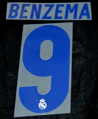 Real Madrid Benzema 9 2016-17 Football Shirt Name/Number Set Home Sporting ID • 17.87$