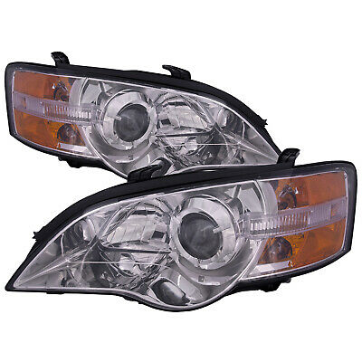 $206.42 • Buy Headlights Set Chrome Performance Lens Fits 2005-2007 Subaru Legacy And Outback