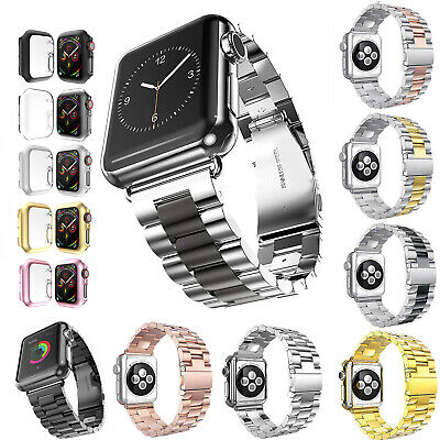 $ CDN19.95 • Buy 40 44mm Thin Cover Metal Band For Apple Watch Series 6 5 4 Stainless Steel Strap
