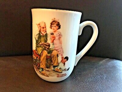 "$ CDN8.97 • Buy Norman Rockwell Museum's ""The Cobbler"" Coffee Mug Or Tea Cup Collectible"