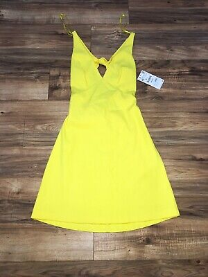 New With Tags Zara Trafaluc Collection Women's Yellow Dress Shirt Extra Small XS • 29.99$