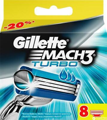Gillette Mach 3 / Mach 3 Turbo RAZOR BLADES - SAME DAY DISPATCH • 10.60£