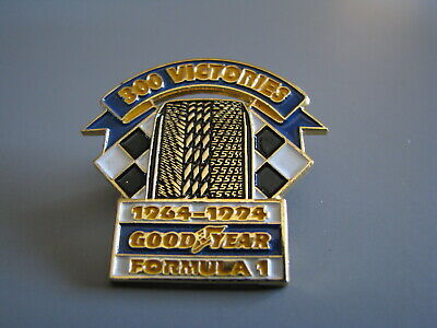 Goodyear Tires 300 Victories Formula 1 Logo Indycar Cart Indy Racing Hat Pin • 9.75$