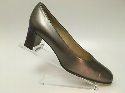 BALLY All Leather Court Shoes Pewter Womens UK 5 EU 38 US 7.5 • 24.95£