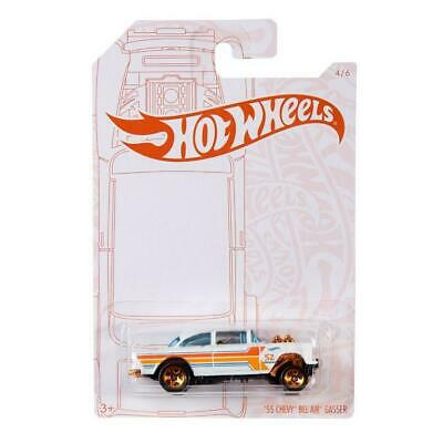 Hot Wheels Chevy Bel Air 55 Gasser Pearl And Chrome 1/64 • 7.50$