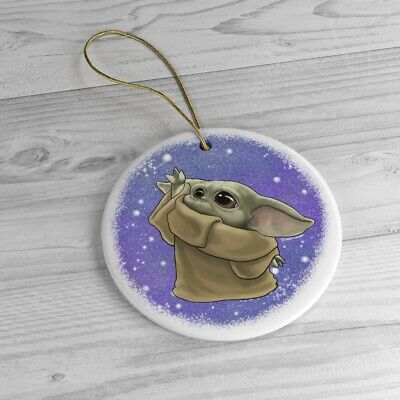 $16 • Buy Baby Yoda Mandalorian Star Wars Inspired Ceramic Ornament