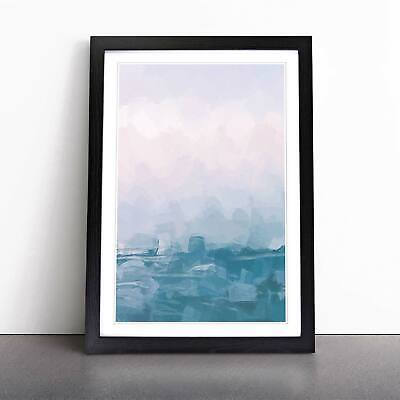 Lake Garda Italy In Abstract Landscape Nature Framed Picture Print Wall Art • 13.95£