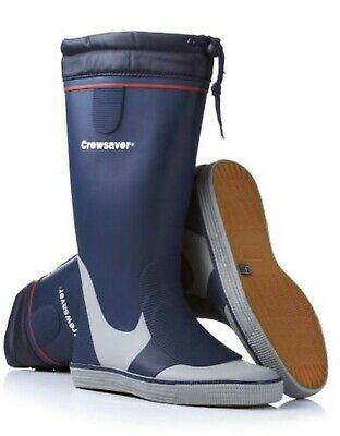 Crewsaver Long Sailing Boots Boat Deck Yachting Rubber Non Marking Sole Uk 4 • 40£