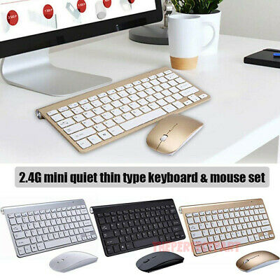 $14.79 • Buy Mini Wireless Keyboard And Mouse Set Waterproof 2.4G For Mac Apple PC Computer