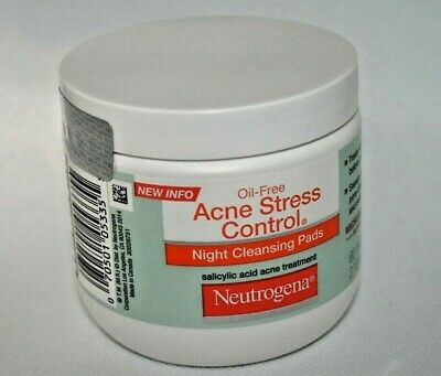 Neutrogena Oil-Free Acne Stress Control Night Cleansing Pads 60 Count  • 24.99$