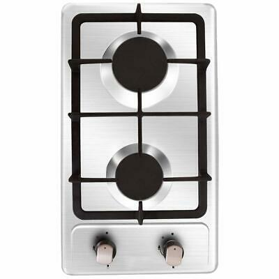 AU344.21 • Buy NOXTON Gas Cooktop Hob Gas Stove Top 2 Sealed Burners In Stainless Steel 1620...