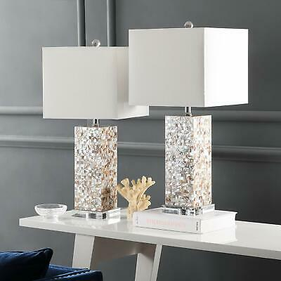 £209.61 • Buy Safavieh Lighting Collection Homer Ivory Shell 25.5-inch Table Lamp Set Of 2