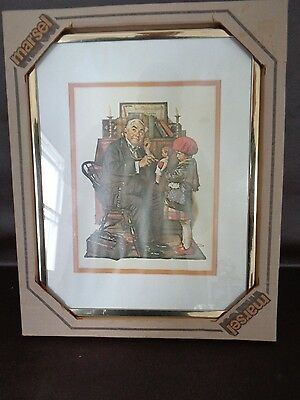 $ CDN44.81 • Buy Vintage Framed Norman Rockwell Doctor With Stethoscope 11  X 14