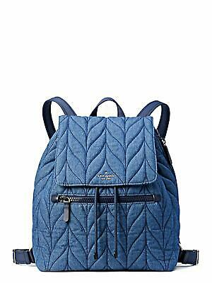 $ CDN305.41 • Buy Kate Spade Ellie Large Flap Denim Backpack