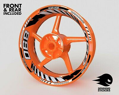 £52.72 • Buy Wheel Stickers For KTM 890 DUKE Rim Tape Motorcycle Decals Graphics 17