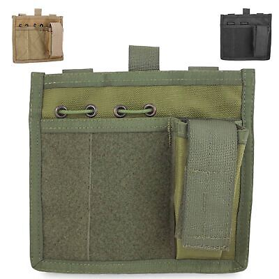 Bulldog MOLLE Military Army Tactical Chest Torch Pen Notebook Holder Admin Panel • 17£