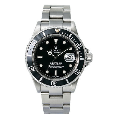 $ CDN10182.70 • Buy ROLEX SUBMARINER 16610 P Serial MEN'S AUTOMATIC WATCH BLACK Stainless 40MM
