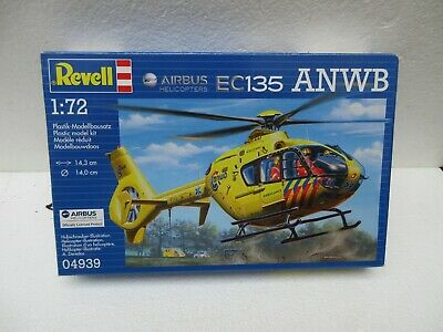 REVELL 1/72nd SCALE EC135 ANWB HELICOPTER MODEL KIT # 04939 • 11.84£