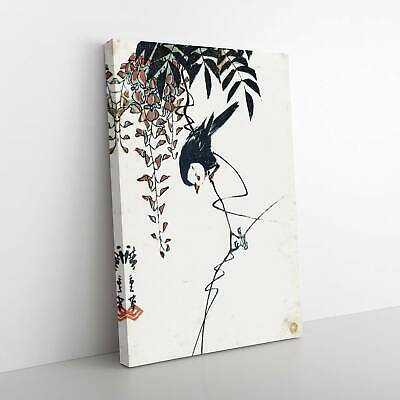 Bird And Wisteria Tree Asian Utagawa Hiroshige Framed Canvas Print Wall Art • 22.95£
