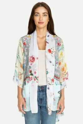 $148 • Buy Johnny Was Pastel Floral Embroidery Kimono Boho Chic C47819 NEW