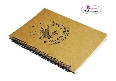 AU13 • Buy B5 Spiral Hard Cover Sketchbook Wire Bound Notebook- 120 Kraft Tear-off Pages