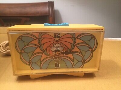 GE Peter Max Snooze Alarm Clock Rare Cool Hip Runs 1972 Psychedelic Hip • 334£