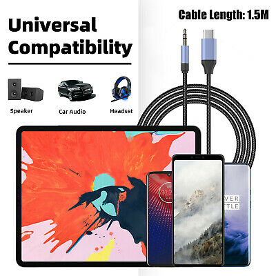 $6.58 • Buy USB Type-C To 3.5mm Jack AUX Headphone Audio Splitter Converter Adapter Cable US