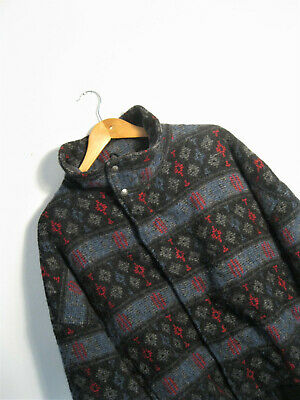 WOOLRICH | RETRO Navajo Ethnic Aztec Tribal WOOL Quilt Lined Bomber Jacket | XL • 54.99£
