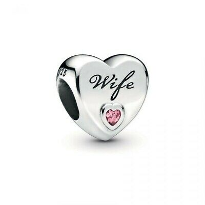 New Genuine Pandora Silver Wife Love Heart Charm Ale S925 798249pcz Gift • 14.69£