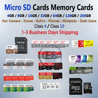 $23.99 • Buy Micro SD Card 4/8/16/32/64/128/256/512 GB Ultra Extreme Pro Evo Class Lot Fast