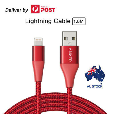 AU33.25 • Buy Anker Lightning Cable (6ft) PowerLine+ II MFi Certified USB Cable For IPhone