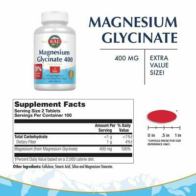 £23.29 • Buy Magnesium Glycinate Tablet Chelated Vegan Non-GMO 400mg 200ct KAL®