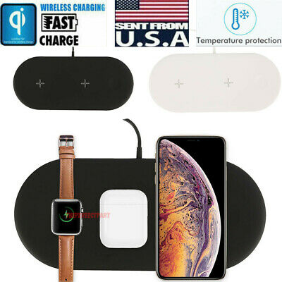 $ CDN19.91 • Buy 3in1 QI Wireless Charger Charging Dock Station For Apple AirPods / IPhone/ Watch