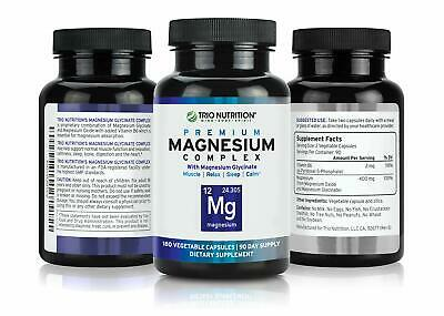 £18.81 • Buy Magnesium Complex W/Magnesium Glycinate Chelated With Vitamin B6 180ct