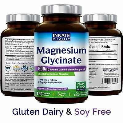 £17.80 • Buy Magnesium Glycinate 100% Chelated Supports Muscle 500mg 120ct Innate Vitality