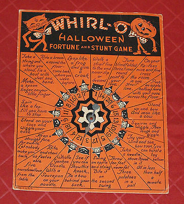 $ CDN91.96 • Buy Vintage Halloween WHIRL-O FORTUNE AND STUNT GAME