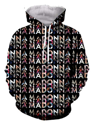 $ CDN18.77 • Buy Star Madonna 3D Print Mens Womens Hoodie Sweater Sweatshirt Jacket Pullover Tops