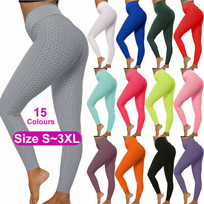 AU18.95 • Buy Women's Yoga Leggings Fitness Push Up Pants Sports Gym Running Workout Trousers