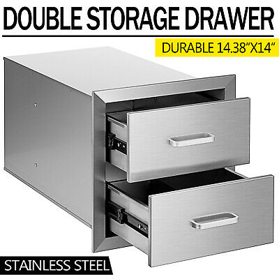 $118.50 • Buy 14  Outdoor Kitchen BBQ Island Stainless Steel Access Drawer Double Worktable