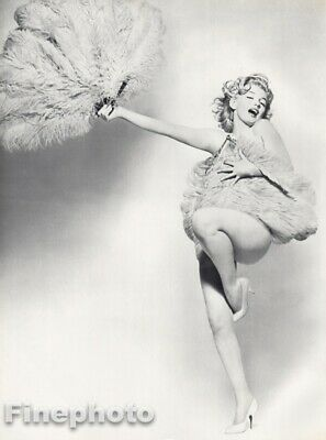 $269.31 • Buy 1958 Marilyn Monroe By Richard Avedon Actress Nude W Feathers Vintage Photo Art