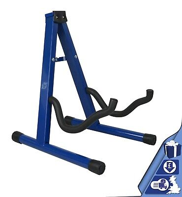 $ CDN13.83 • Buy Guitar Stand Blue Folding Metal Electric Acoustic Free Standing A Frame Stand